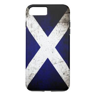 Black Grunge Scotland Flag iPhone 7 Plus Case