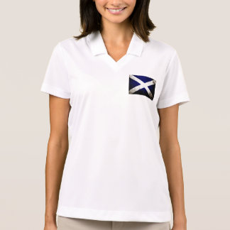 Black Grunge Scotland Flag Polo Shirt