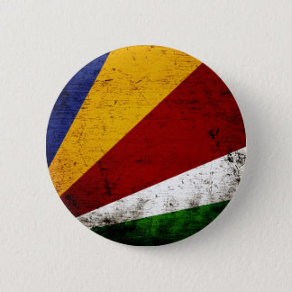 Black Grunge Seychelles Flag 6 Cm Round Badge