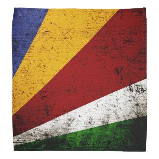 Black Grunge Seychelles Flag Bandana