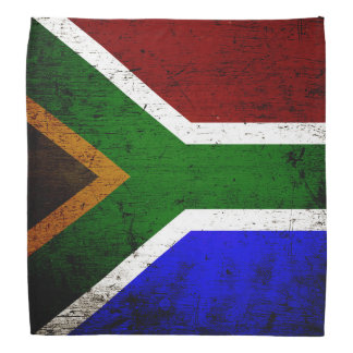 Black Grunge South Africa Flag Bandana
