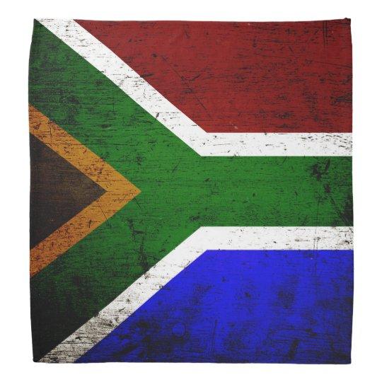 Black Grunge South Africa Flag Bandana