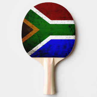 Black Grunge South Africa Flag Ping Pong Paddle