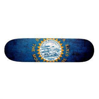 Black Grunge South Dakota State Flag Skate Boards