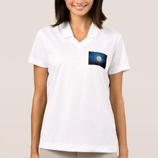 Black Grunge South Dakota State Flag Polo Shirts