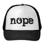BLACK Grunge Text NOPE Cap