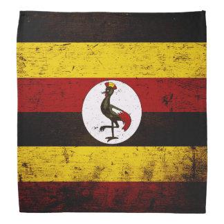 Black Grunge Uganda Flag Bandana