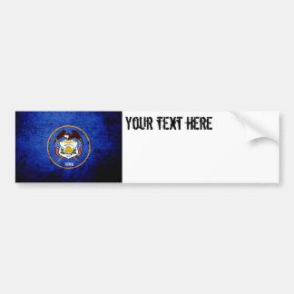 Black Grunge Utah State Flag Bumper Sticker