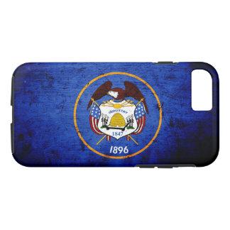 Black Grunge Utah State Flag iPhone 7 Case