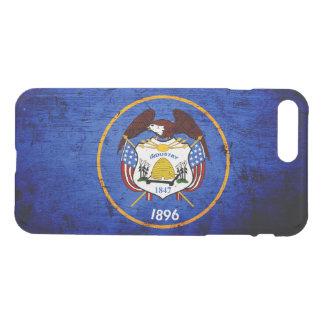 Black Grunge Utah State Flag iPhone 7 Plus Case