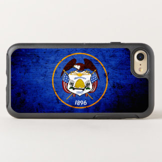 Black Grunge Utah State Flag OtterBox Symmetry iPhone 7 Case