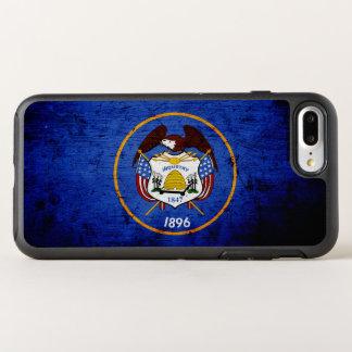 Black Grunge Utah State Flag OtterBox Symmetry iPhone 7 Plus Case