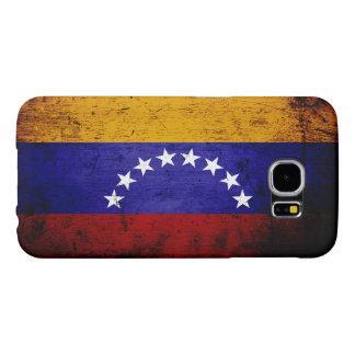 Black Grunge Venezuela Flag Samsung Galaxy S6 Cases