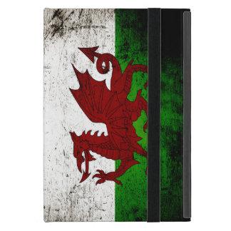 Black Grunge Wales Flag iPad Mini Cover