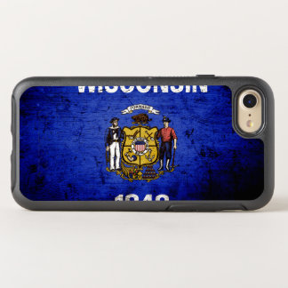 Black Grunge Wisconsin State Flag OtterBox Symmetry iPhone 7 Case