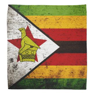 Black Grunge Zimbabwe Flag Bandannas