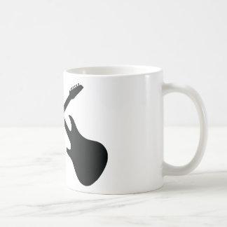 black guitar icon crossed coffee mug