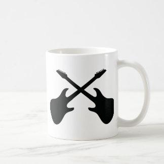 black guitar icon crossed mugs