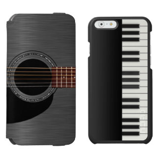 Black Guitar Piano Combo Incipio Watson™ iPhone 6 Wallet Case