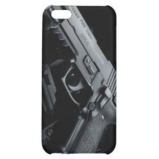 black gun iPhone 5C covers