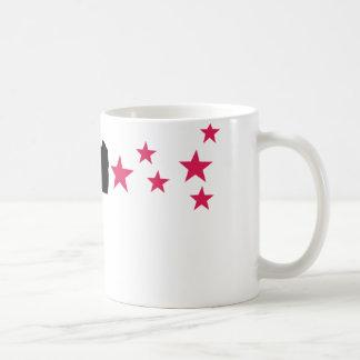 black gun star pistol stars coffee mug