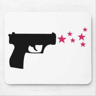 black gun star pistol stars mouse pad