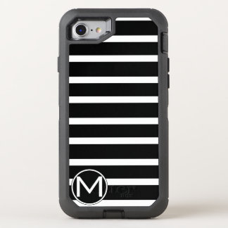 Black H Stripe Monogram OtterBox Defender iPhone 7 Case