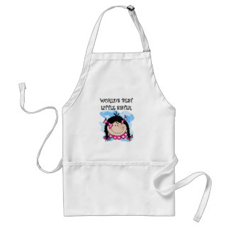 Black Hair Best Little Sister Tshirts and Gifts Standard Apron