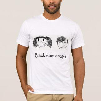 Black hair couple - Boyfriend T-Shirt