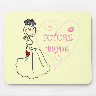 Black Hair Future Bride Tshirts and Gifts Mousepads
