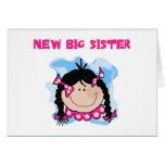 Black Hair New Big Sister  Tshirts and Gifts Greeting Card