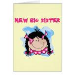 Black Hair New Big Sister  Tshirts and Gifts Card