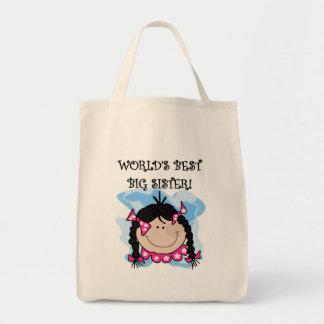 Black Hair World s Best Big Sister Tshirts Bags
