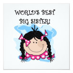 Black Hair World's Best Big Sister Gifts Personalized Invite
