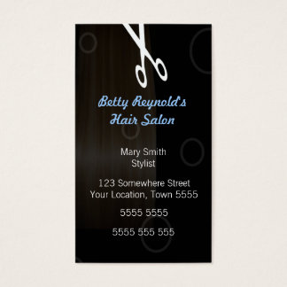 Black Hairdressing Business Card