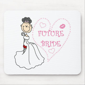 Black  Haired Future Bride Mouse Pad