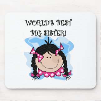 Black Haired World's Best Big Sister Mouse Mat