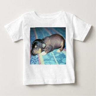 Black Hairless Chinese Crested Newborn Puppy Tee Shirts