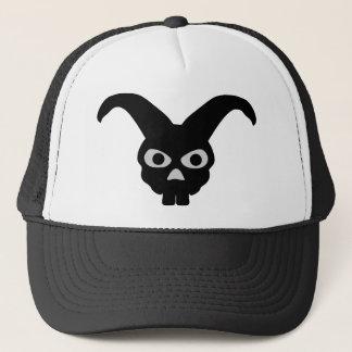 black halloween bunny trucker hat
