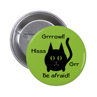 Black Halloween cat 6 Cm Round Badge