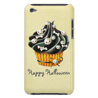 Black Halloween Cupcake iPod Case-Mate Cases