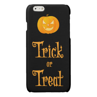Black Halloween iPhone 6 Cases Trick Or Treat iPhone 6 Plus Case