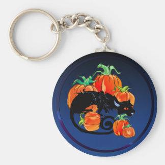 Black Halloween Kitty Keychain