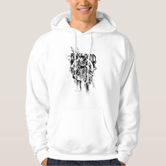 Black Hand 0 Graphic Collage, Black and White Hoodie