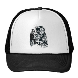 Black Hand and Skull Collage Cap