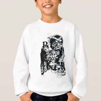Black Hand and Skull Collage Sweatshirt