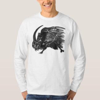 Black hand drawn rhino beetle T-Shirt