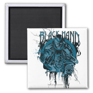Black Hand - Graphic Collage Square Magnet