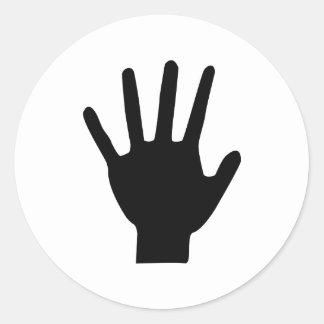 black hand icon sticker