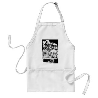 Black Hand with Skull Panel 2 Standard Apron